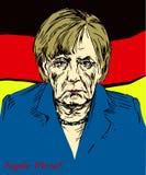 Angela Dorothea Merkel kanclerz Niemcy, lider Chrześcijański Demokratyczny zjednoczenie CDU Fotografia Royalty Free