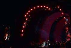 Angela Gheorghiu wykonuje w na otwartym powietrzu koncercie z w Bucharest Obraz Royalty Free