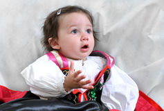 Angela, the girl in traditional dress Stock Photo