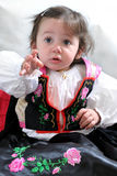 Angela, the girl in traditional dress Stock Images