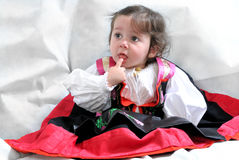 Angela, the girl in traditional dress Royalty Free Stock Photos