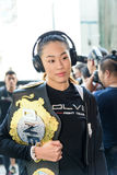 Angela Lee of Singapore in One Championship. BANGKOK - MARCH 11 : Angela Lee of Singapore in One Championship `One : Warrior Kingdom` on March 11, 2017 at Stock Image