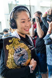 Angela Lee of Singapore in One Championship. BANGKOK - MARCH 11 : Angela Lee of Singapore in One Championship `One : Warrior Kingdom` on March 11, 2017 at Royalty Free Stock Photography