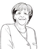 Angela Merkel Obrazy Royalty Free