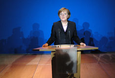 Angela Merkel photographie stock