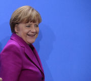 Angela Merkel image libre de droits