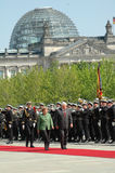 Angela Merkel, Alrirdas Brzauskas Stock Images