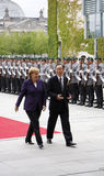 Angela Merkel, Ban Ki Moon Royalty Free Stock Photo