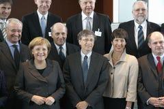 Angela Merkel, Bill Gates Stock Photo