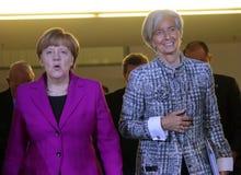 Angela Merkel, Christine Lagarde Stockfotografie