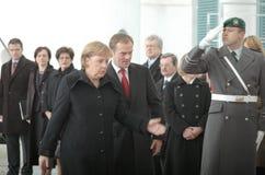 Angela merkel, Donald Tusk Στοκ φωτογραφίες με δικαίωμα ελεύθερης χρήσης