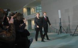 Angela merkel, Donald Tusk Στοκ Εικόνα