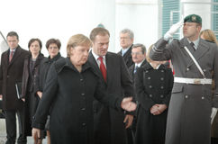 Angela merkel,  Donald Tusk Royalty Free Stock Photos