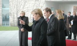 Angela merkel,  Donald Tusk Stock Photo
