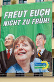 Angela Merkel, Edmund Stoiber and Guido Westerwelle Royalty Free Stock Photo