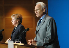 Angela Merkel, Edmund Stoiber Stock Photography