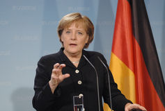 Angela Merkel royalty free stock photos