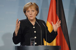 Angela Merkel Royalty Free Stock Photography