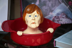 Angela Merkel figure Stock Photography