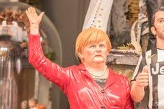 Angela Merkel, figurilla famosa en nucas fotos de archivo libres de regalías