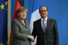 Angela Merkel, Francois Hollande. MARCH 31, 2015 - BERLIN: Francois Hollande, BKin Angela Merkel - meeting of the German Chancellor and the French President in Stock Photo