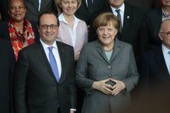 Angela Merkel, Francois Hollande Royalty Free Stock Photos