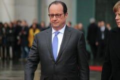 Angela Merkel, Francois Hollande Stock Photography