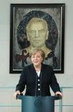 Angela Merkel, Gerhard Schroeder Foto de archivo