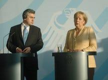 Angela Merkel, Gordon Brown Stock Image