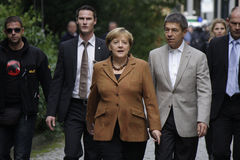 Angela Merkel with husband Royalty Free Stock Photos