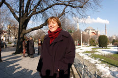 Angela Merkel in Istanbul Royalty Free Stock Photos