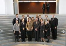 Angela Merkel, members of NGOs Royalty Free Stock Images