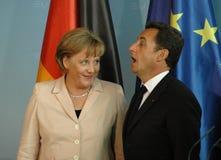 Angela Merkel, Nicolas Sarkozy Stock Photography