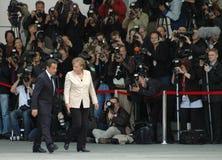 Angela Merkel, Nicolas Sarkozy Stock Image