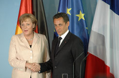 Angela Merkel, Nicolas Sarkozy Royalty Free Stock Photos