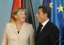 Angela Merkel, Nicolas Sarkozy Royalty Free Stock Image