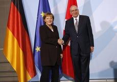 Angela Merkel, Pascal Couchepin Royalty Free Stock Photo