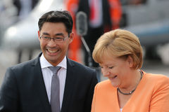 Angela Merkel and Philipp Rösler Stock Images