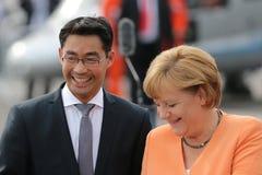 Angela Merkel and Philipp Rösler Stock Images