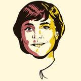Angela Merkel portrait Stock Photography