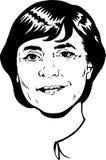 Angela Merkel portrait - black and white Version stock photo