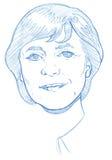 Angela Merkel portrait - Pencil Version Stock Photo