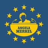 Angela Merkel simple portrait. Germany - Circa, 2017: An illustration of a portrait of german chancellor Angela Merkel portrait. Frame from stars Royalty Free Stock Images
