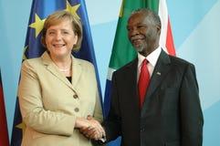Angela Merkel, Thabo Mbeki Royalty Free Stock Images