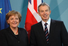 Angela Merkel, Tony Blair Royalty Free Stock Image