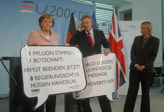 Angela Merkel, Tony Blair Stock Images