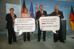 Angela Merkel, Tony Blair Royalty Free Stock Images
