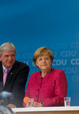 Angela Merkel und Volker Bouffier Royalty Free Stock Photo