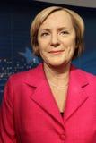 Angela Merkel (vaxdiagram) Arkivbild