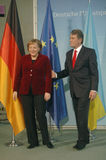 Angela Merkel, Viktor Juschtschenko Royalty Free Stock Photos
